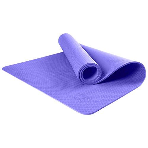 NBE Las esteras del Yoga, Lino Fitness Antideslizante Mat colchoneta de Ejercicios Abdominales Esterilla de Yoga Buena Elasticidad