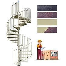 Escalera de caracol de acero galvanizado & recubierto de polvo Epoxy Mod.