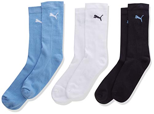PUMA Kinder SPORT JUNIOR 3P Socken, d.blue/l.blue/White, 27-30 (3er Pack)