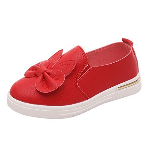AIni Baby Schuhe Mode Beiläufiges 2019 Neuer Kleinkind Scherzt Baby Nette Bowknot Kaninchen Ohr Einzelne Prinzessin Sneakers Schuhe Krabbelschuhe Kleinkinder Schuhe Lauflernschuhe(30,Rot) -