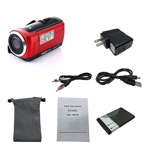 Silverdee Cámara de Video de 16 megapíxeles Videocámara Cámara digital HDC6 HD Videocámara Sensor Anti-vibración CMOS de 5MP 16 × Zoom digital
