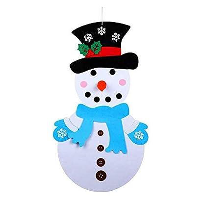 Geapy DIY Fieltro Navidad muñeco de Nieve Juego Set de Pared Colgante extraíble Ornament Home Decor