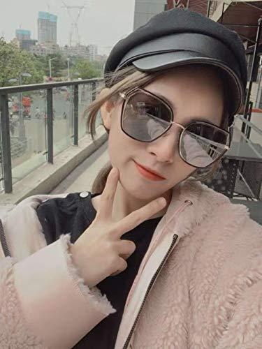 Sonnenbrille Persönlichkeit Retro Sonnenbrille rundes Gesicht ins Brille weibliche Flut UV-Schutz Sonnenbrille goggles-2