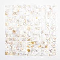 Fliesen Mosaik Mosaikfliese Muschel//Mix glänzend Küche Bad WC 2mm Neu #k320