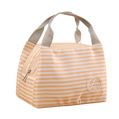 KonJin Lunch Tasche Isoliertasche zur Arbeit Schule Faltbar Wasserdicht Reißverschluss Mittagessen Isoliertasche Thermotasche für Arbeit und Schule (Socke Kompressor)