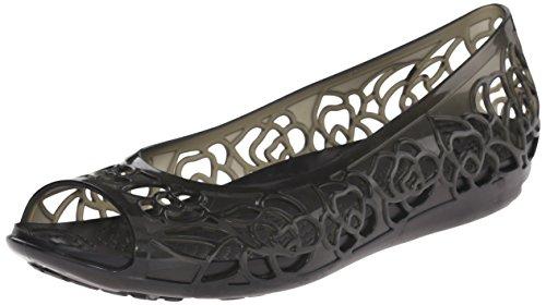 Crocs Isabellajlyfltw, Ballerine Donna Nero (Black)