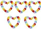 kaymayn 5Stück Hawaiikette Mehrfarbig Blumenkranz Blume Girlande, Seide Blumen, für Party Fancy Kleid und Tropical Beach Erwachsene oder Kinder Unisex, mit Armbänder (5PCS Single Color)