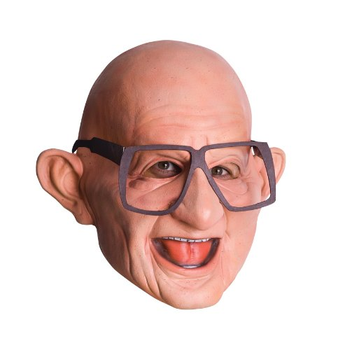 Halloween Mr Six 3/4 Vinyl Maske mit Brille für Erwachsene (Für Vinyl-maske Erwachsene)