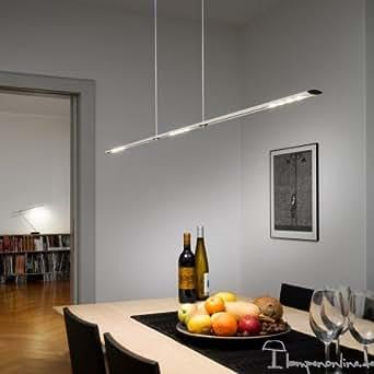 Baltensweiler Let D 140 Suspension LED avec variateur Aluminium anodisé 2700 K