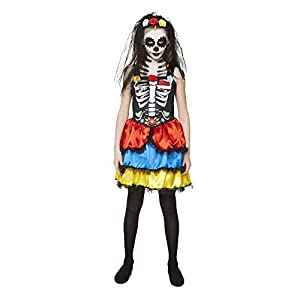 Karnival Costumes- Halloween Day of The Dead Girl Disfraz, Multicolor, xx-large (84552)