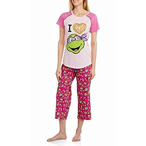 Teenage Mutant Ninja Turtles Damen Kurzarm-Shirt und Capri Nachtw?sche Set (X-Large 16/18) (Capri Turtle)