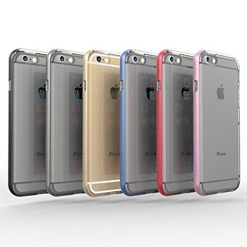 """Funda iPhone 6 / 6s (4.7"""") Azorm Hybrid Edition Azul - Bumper con Efecto Metálico Azul, Resistente a los arañazos en su parte trasera, Amortigua los golpes [SE INCLUYE UN PROTECTOR DE PANTALLA Y UNA BAYETA LIMPIADORA] Funda protectora anti-golpes para iPhone 6, iPhone 6s"""