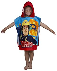 Character World Fireman Sam Brave Hooded Poncho