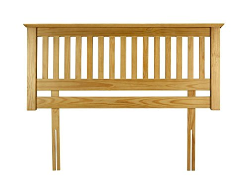 Happy Beds Barcelona Wooden Headboard Solid Pine Antique Finish Bedroom Bed 5' King Size