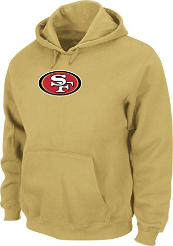 Majestic NFL San Francisco 49ers Tek Patch Hoody Hooded Sweater Kaputzenpullover (X-Large) -