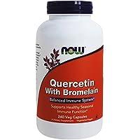 NOW Foods - Quercétine avec le bromelain - 240 Capsules végétariennes