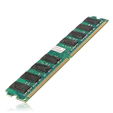 SODIAL(R) 2x 2GB 2G RAM Memoire DDR2