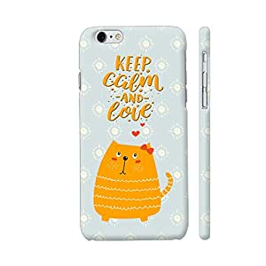 Colorpur iPhone 6 Plus / 6s Plus Cover - Keep Calm And Love Cat Printed Back Case