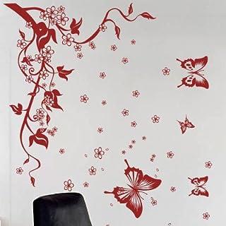 amazing sticker Wandsticker Schmetterling Baum Blume, S
