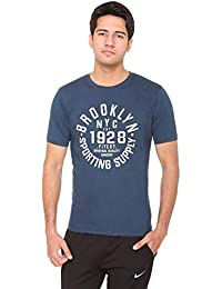 DFH Men Blue Half Sleeves T-Shirt