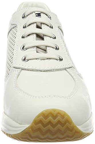 Geox D Happy A, Baskets Basses Femme Blanc (Off Blanc)