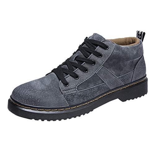 ABsoar Sneakers Herren Mode Freizeitschuhe Atmungsaktive Schnürhalbschuh Leichte Laufschuhe Woven Mesh Rutschfeste Turnschuhe Flache Schuhe für Jüngere