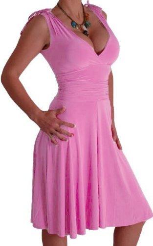 EyeCatchClothing - Sasha verführerisches Kleid in griechischem Style HellRosa Gr. 8 UK / 36 EU