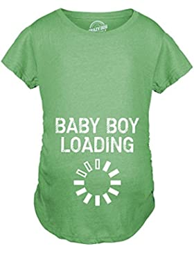 Crazy Dog Tshirts Maternity Baby Boy Loading Funny Nerdy Pregnancy Announcement T Shirt - Divertente Magliette...