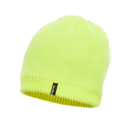 DexShell Waterproof, Windproof, Breathable Solo Beanie Hat High Viz Yellow (High Vis Beanie)