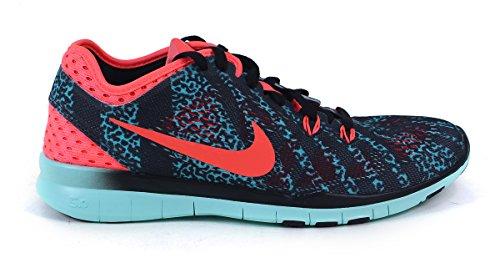 Nike WMNS NIKE FREE 5.0, Chaussures de sport femme Bleu (Black/Hot Lava/Artisan Teal 007)