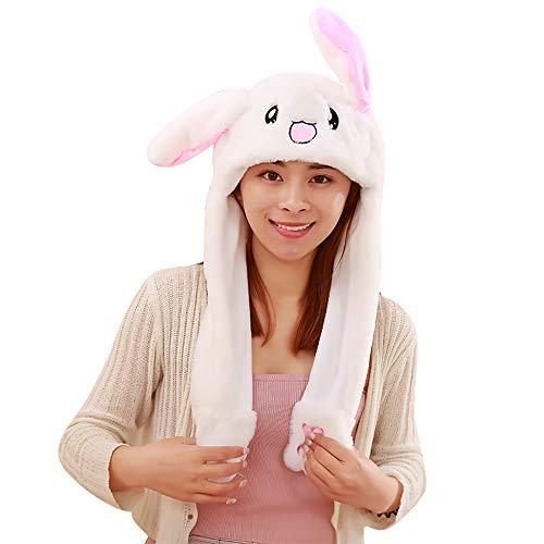 Woneart Plüsch Bunny Ohren Stirnband Kaninchen Ohren Hut-Kappe mit Beweglichen Ohren Tier Ostern Verkleidung Tiermütze Kostüm Plüschtiere (Bunny ()