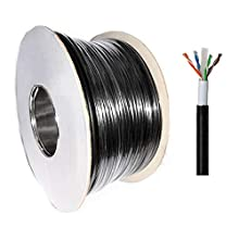 100m Cat6 Heavy Duty External SOLID COPPER Double Lined UTP Network Cable for Outdoor Use BLACK Reel