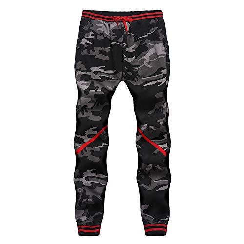 KPILP Hosen Männer Dicker Sportswear 2018 Herbst Warmer Harem Camouflage Drucken Klassische Camouflage Joggers Pockets Jogginghose M-4XL(Grau, 4XL - Mercer Fit Chino