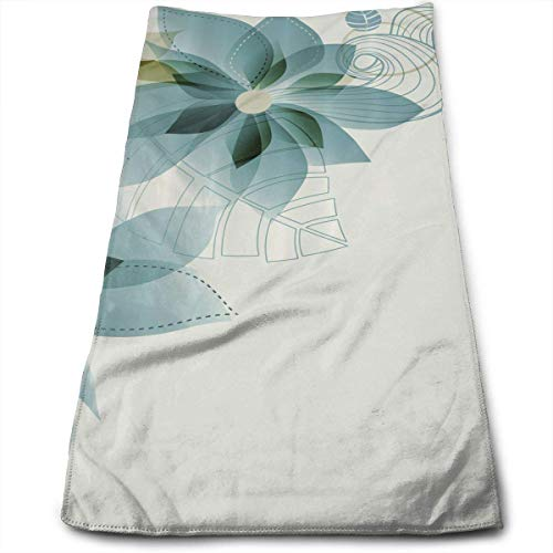 QuGujun Turkish Bath Towels Vintage Inspired Floral Premium Soft Polyester Lightweight Hand Towel,Travel Towel,Bath Sheet, 30cm X 70cm- Multipurpose Towels for Bath, Hand, Face, Gym and Spa (Türkis Papier-handtuch-halter)