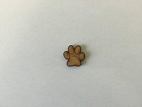 20x Dog Animal Paw 2cm Wood Craft Embelishments Laser Cut