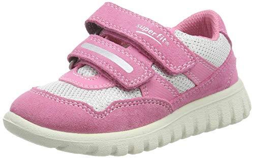 Superfit Baby Mädchen SPORT7 Mini Sneaker, Pink (Rosa/Weiss 55), 27 EU -