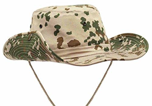 US Army Outdoor Buschhut Boonie Hat aus stabilem Rip Stopp in vielen Farben und Größen (L, Tropentarn) (Jagd-shirt Moleskin)