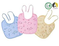 Vijkan Aarushi Multicolor Soft Fabric Waterproof Baby Bibs Pack of 3