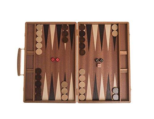 Backgammon Koffer Exklusiv, Intarsie, Holz, 38 cm