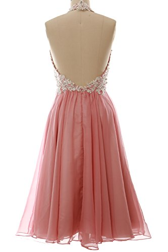 MACloth Gorgeous Short Prom Homecoming Dress Halter Wedding Party Formal Gown clover