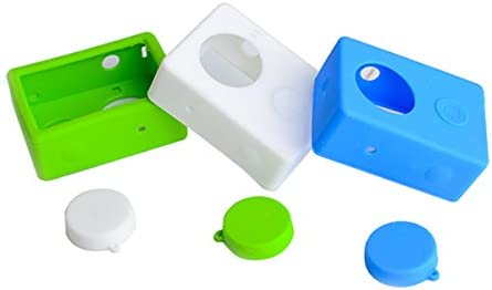 LaDicha 2Pcs Gel De Silice Étui De Protection Pour Pour Pour Xiaomi Xiaoyi Sport Action Camera Blanc/Vert/Bleu - Bleu B07D12Z3L9 eae85e