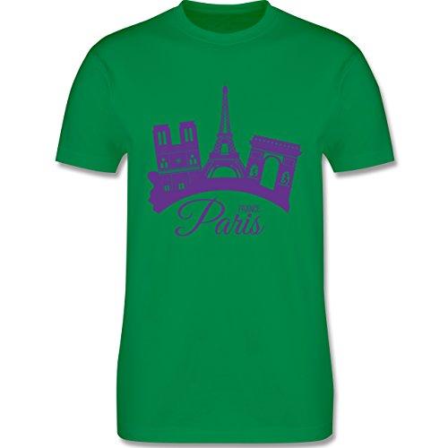 Skyline - Skyline Paris Frankreich France - Herren Premium T-Shirt Grün