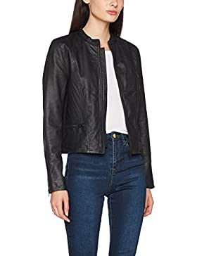 SELECTED FEMME Sfhannah Leather Jacket Noos, Chaqueta para Mujer