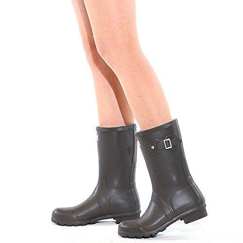 Paperplanes - 1193–1 tendance centrale de bottes de pluie Wellington Bottes en caoutchouc pour femme Marron - Marron