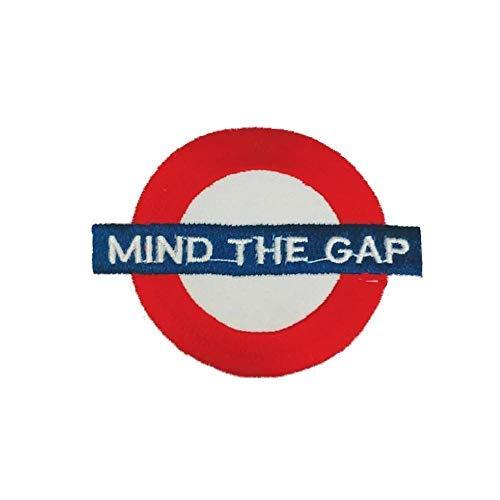 Mind The Gap London Underground Parche con Plancha