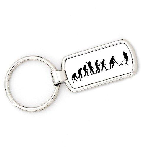 Mans Evolution Schlüsselanhänger Ape zu Field Hockey Schlüssel Ring Geschenk
