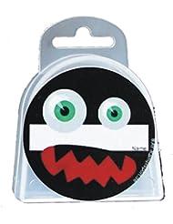 BAY® LANY-CASE MONSTER FACE mit Name-Freifeld für WUNSCHNAME mit Oese für Zahnschutz Zahnspange usw. BOX Dose Hygienebox Aufbewahrungsbox Zahnschutzbox Zahnschutzdose klar durchsichtig transparent Mundschutz groß Mundschützer Zahnschützer Einhängeöse Öse