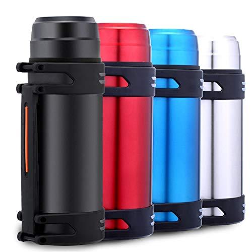 Kaffeetassen Thermosbecher mit großem Fassungsvermögen und Heißgetränkevakuumisoliert (2,0 l), doppelwandig für Sportturnhallen mit Sportschalen im Freien Teetassen (Color : Black, Size : P)