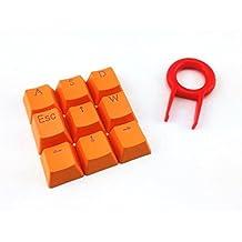 S Elemento de naranja Double Shot PBT Keycaps con blancas rellenos–9DW-DT5059cidus Backlit botón tapas para teclados (mecánica Cherry Switches)