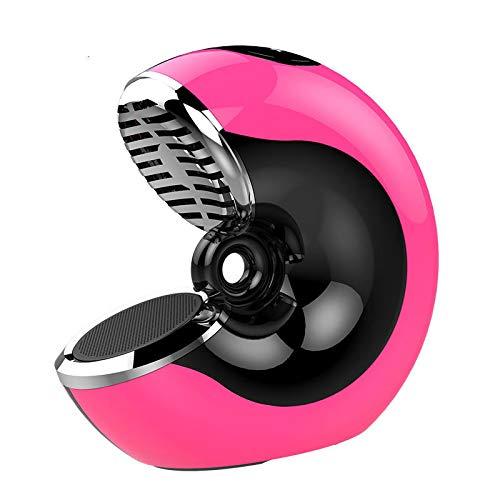 qiyanWireless Kreative Lautsprecherkarte Subwoofer Home Outdoor Tragbarer Smart Touch Anruf Aufladen Kleiner Lautsprecher Rose Rot Bazooka Home-audio-subwoofer